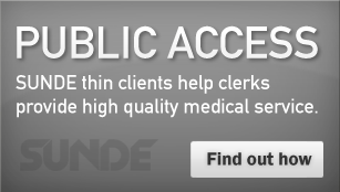 Public Access - SUNDE thin clients help clerks provide high quality medical service